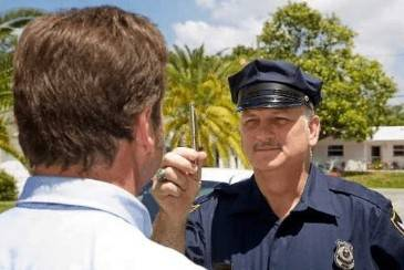 What happens when you fail a field sobriety test